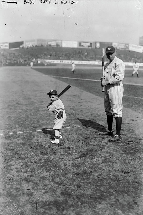 Ray Painting - Babe Ruth And Mascot, 1922 by American School