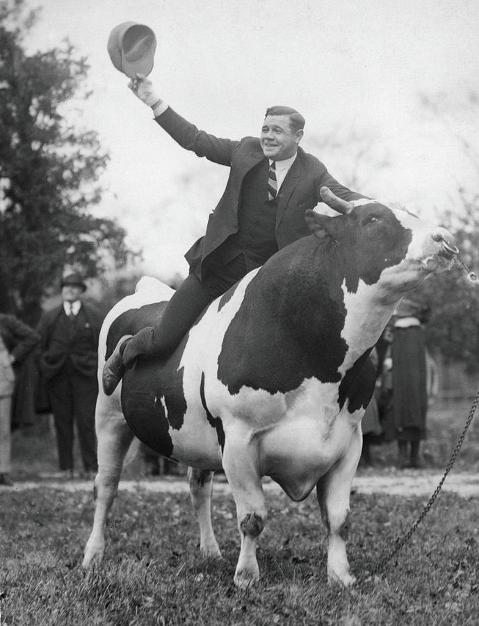Babe Ruth Astride King Jess Photograph by Fpg