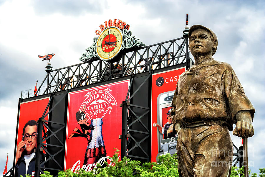 Babe Ruth at Camden Yards by John Rizzuto