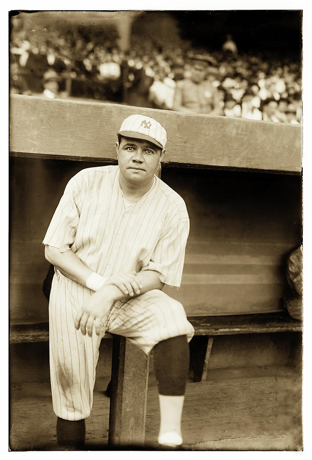 Babe Ruth Baseball 1921 by Carlos Diaz