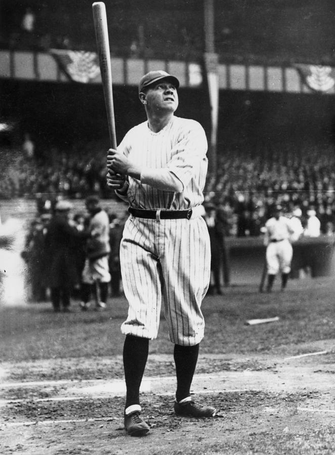 Babe Ruth Batting For Ny Yankees Photograph by Topical Press Agency