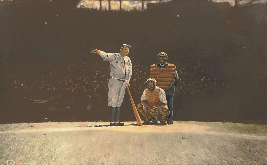 Babe Ruth Calls His Shot 1932 Painting Photograph by ...