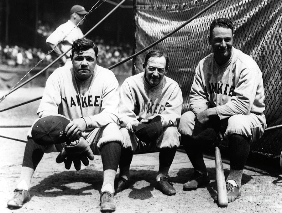 Babe Ruth Huggins Gehrig Photograph by Transcendental Graphics