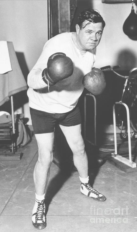Babe Ruth In Boxing Stance Photograph by Bettmann