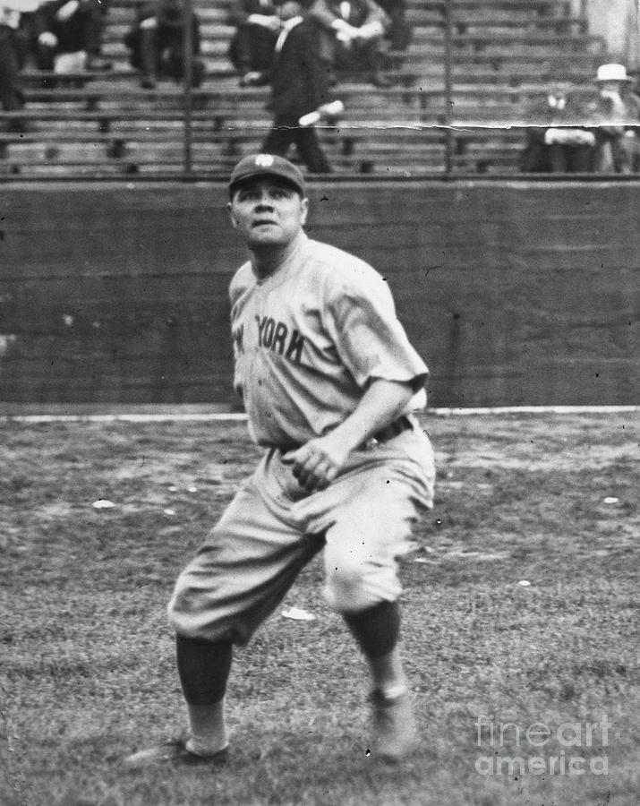 Babe Ruth In Right Field Photograph by Transcendental Graphics
