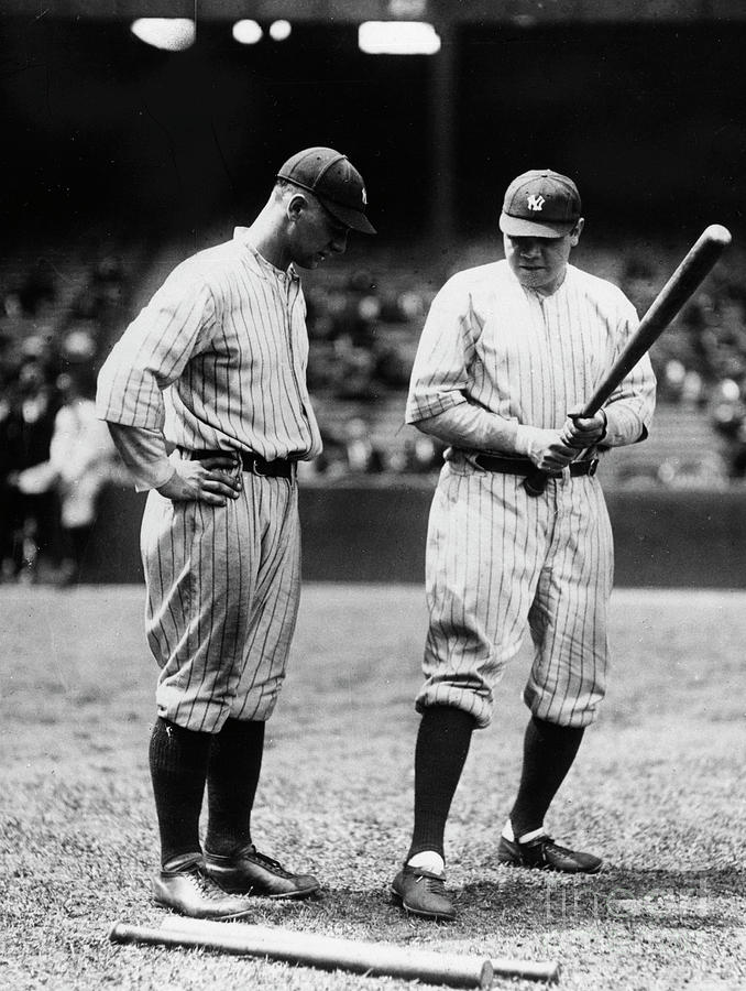 Babe Ruth Lou Gehrig 1923 Photograph by Transcendental Graphics