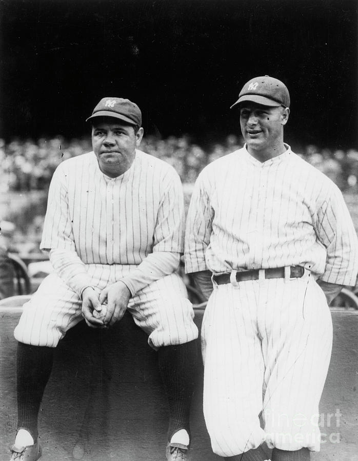 Babe Ruth Lou Gehrig Yankee Stadium Photograph by Transcendental Graphics