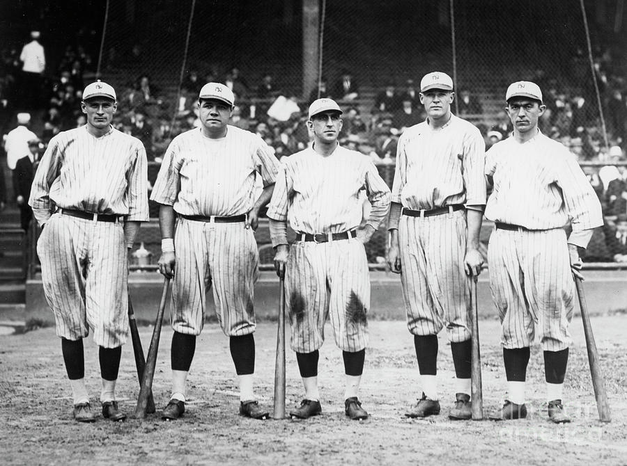 Babe Ruth Murderers Row 1921 Photograph by Transcendental Graphics