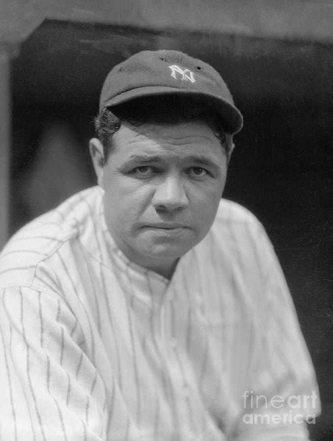 Babe Ruth Posing In Uniform Photograph by Bettmann