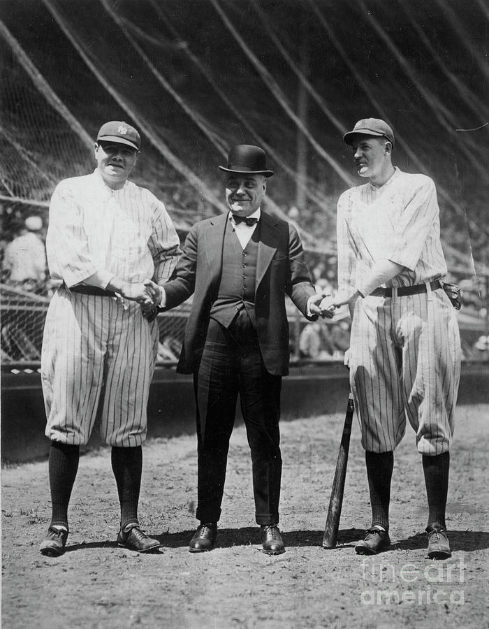Babe Ruth Ruppert Meusel Photograph by Transcendental Graphics