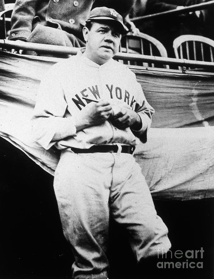 Babe Ruth Signing Ball Photograph by Transcendental Graphics