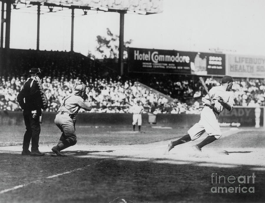 Babe Ruth Smashing 1920 Photograph by Transcendental Graphics
