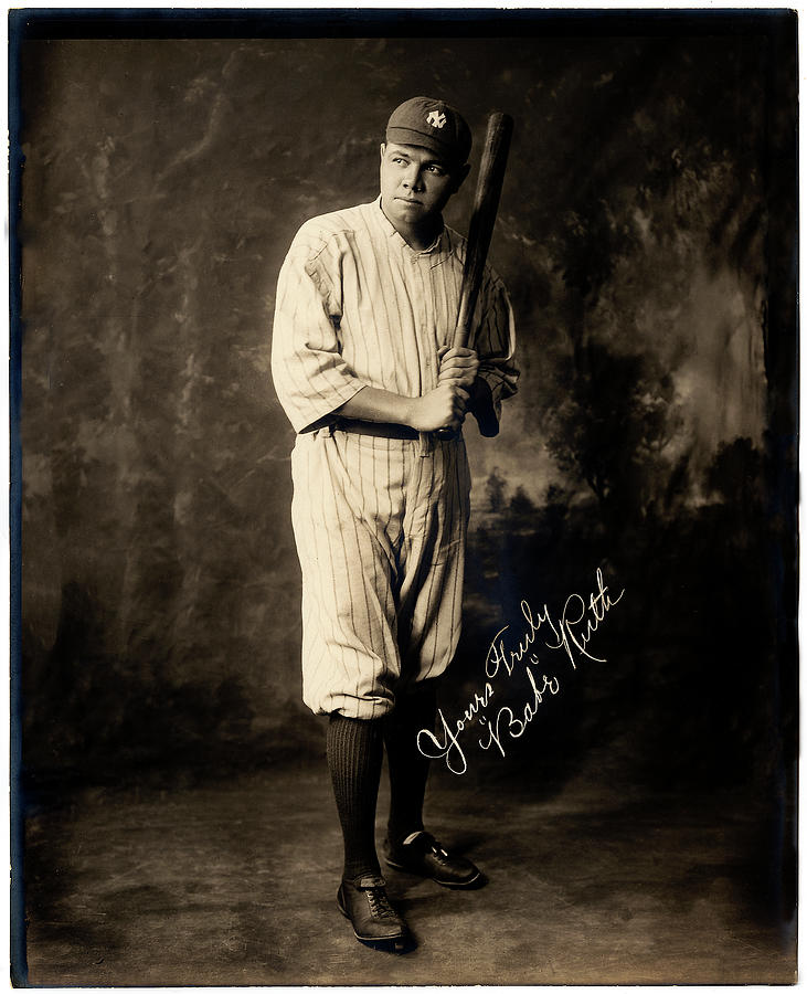 Babe Ruth Yours Truly by Carlos Diaz
