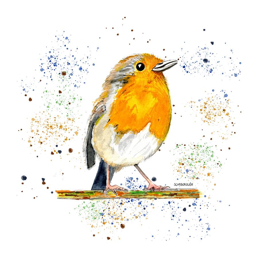 - Baby Bird Color Painting By Larry Scarborough