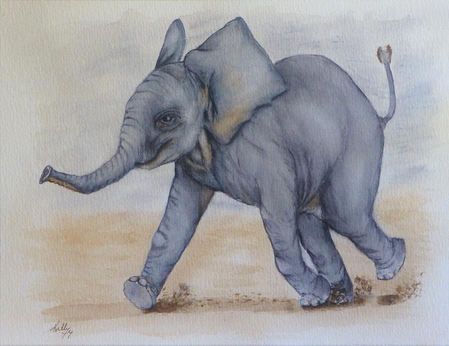 Baby Elephant Run by Kelly Mills