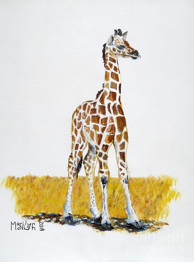 Baby Giraffe by Marilyn McNish
