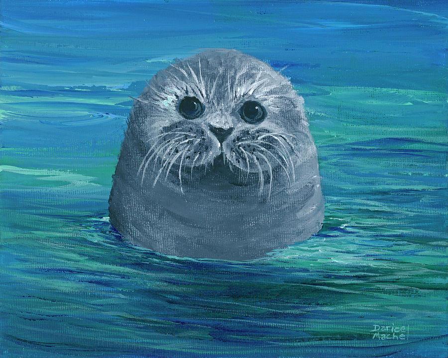 Baby Monk Seal by Darice Machel McGuire