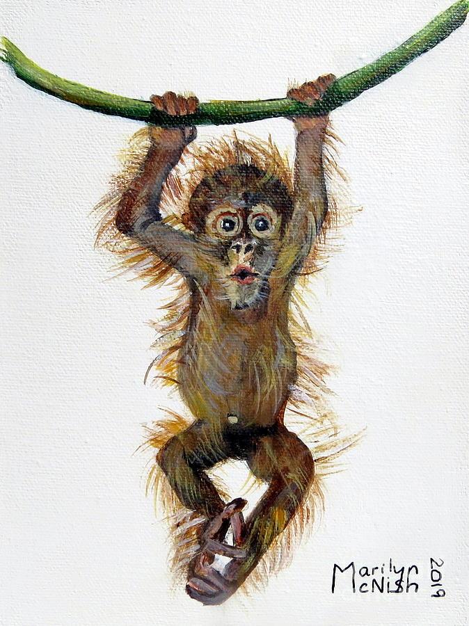 Baby Orangutan by Marilyn McNish