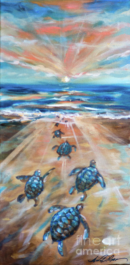 Baby Sea Turtle Fantasy by Linda Olsen