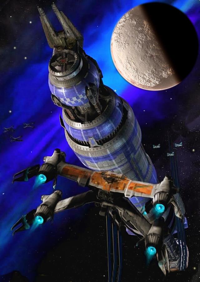 Babylon 5 in space by Mario Carini