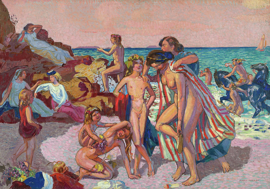 Maurice Denis Painting - Bacchus And Ariadne, 1907 by Maurice Denis