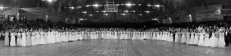 Panoramic Photograph - Bachelor - Benedict Debutantes by Fred Schutz Collection
