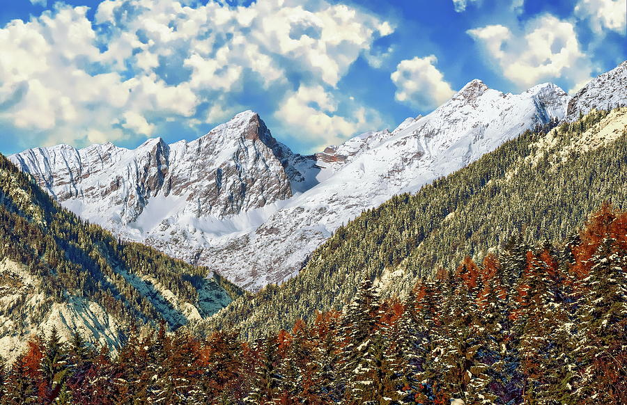 Bachofenspitze Winter Scene by Anthony Dezenzio