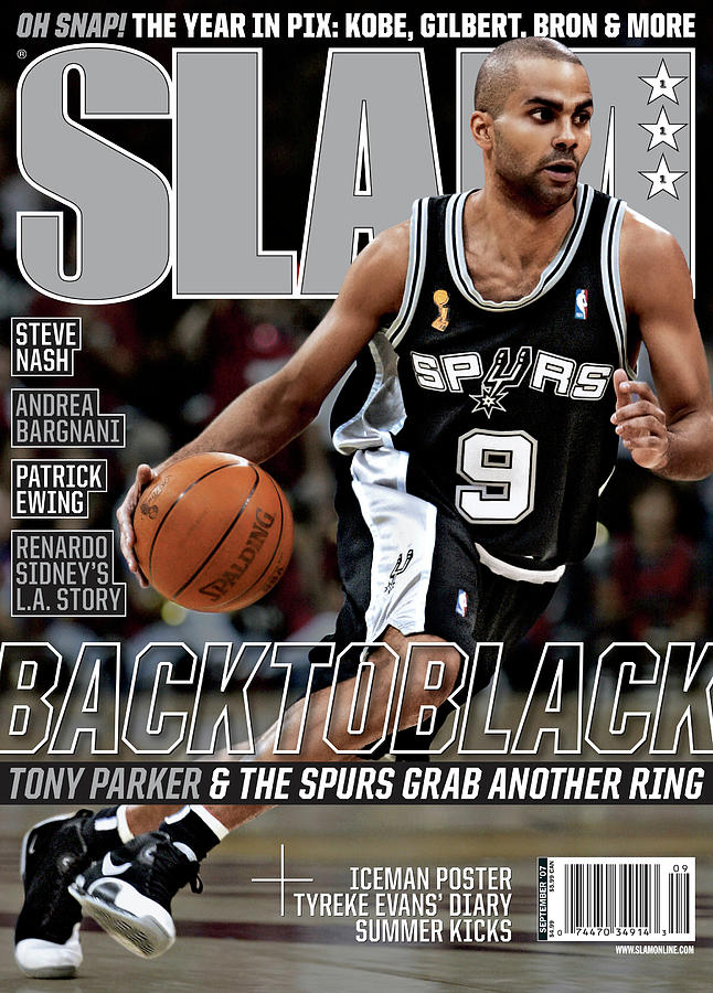Back to Black: Tony Paker & The Spurs Grab Another Ring SLAM Cover Photograph by Getty Images