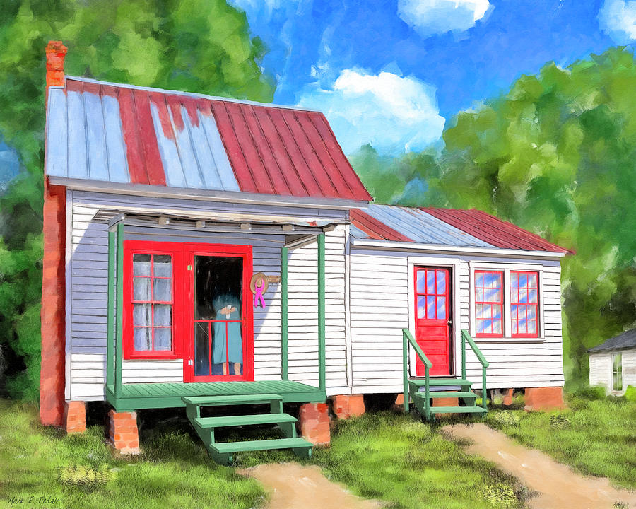Cottage Painting - Back To Grandmothers Cottage by Mark Tisdale