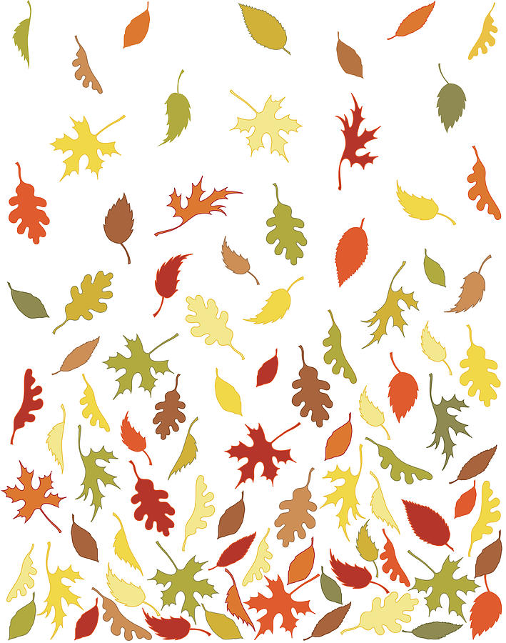 Background Pattern Of Falling Autumn Digital Art by Photos.com