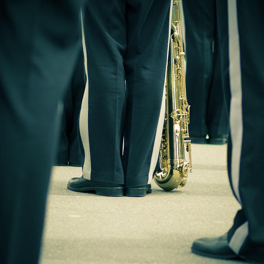 Backlegs Of Military Musician With Photograph by Boma.dfoto@gmail.com