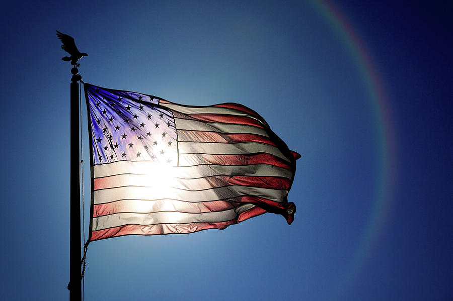American Flag Photograph - Backlit Glory by Todd Klassy