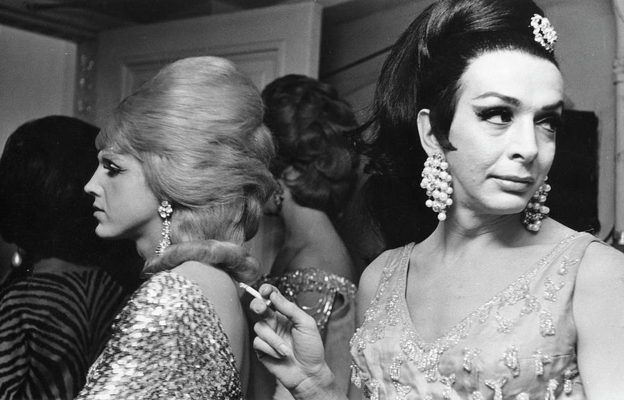 Backstage At Drag Beauty Contest Photograph by Fred W. McDarrah