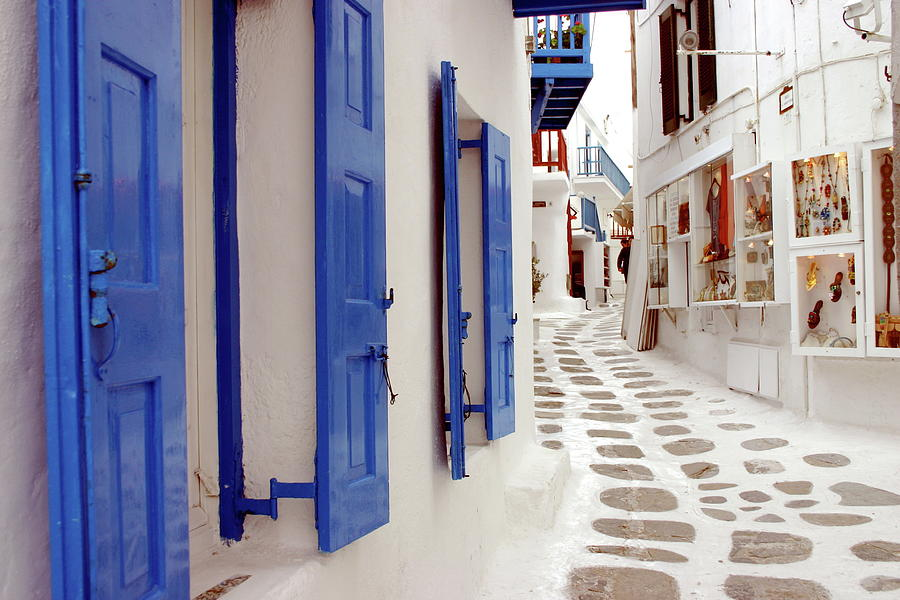 Backstreets Of Mykonos Photograph by Trekholidays