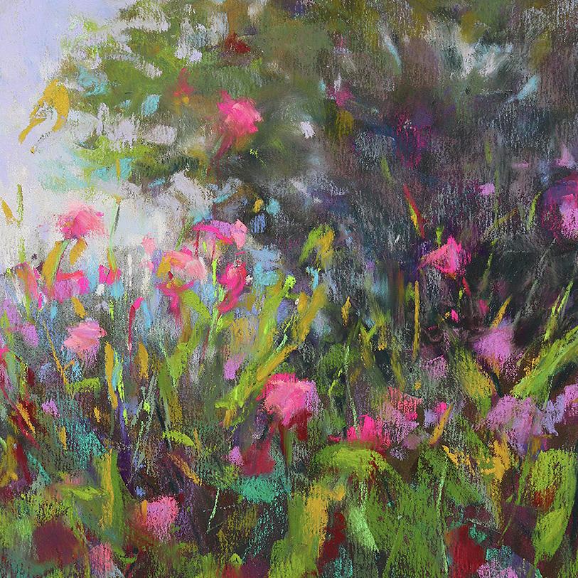 Wildflowers Painting - Backyard Surprises by Susan Jenkins
