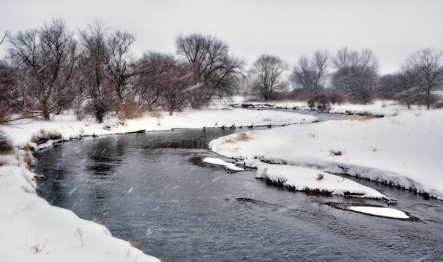 Badfish Creek Winter Snowstorm at Cooksville WI - #2 by Peter Herman