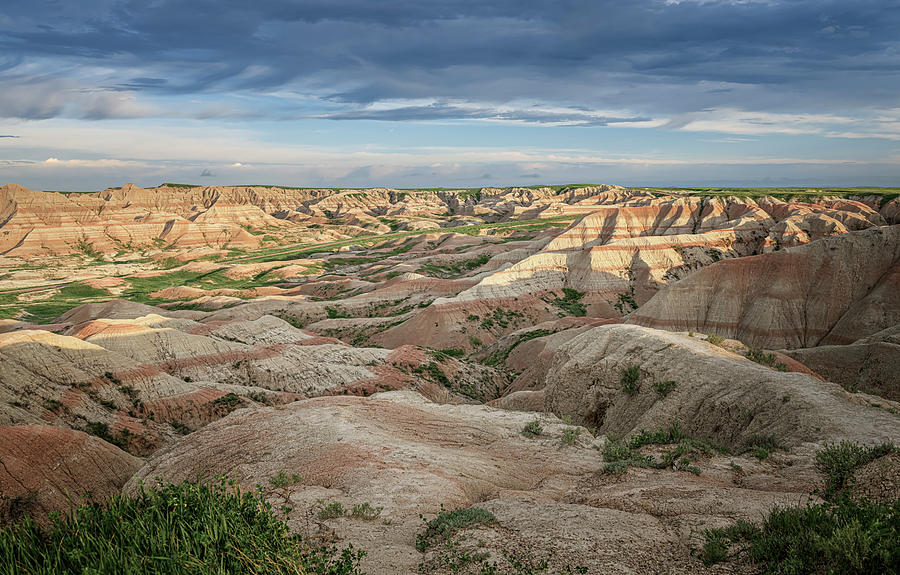 Badlands National Park Early Morning by Joan Carroll