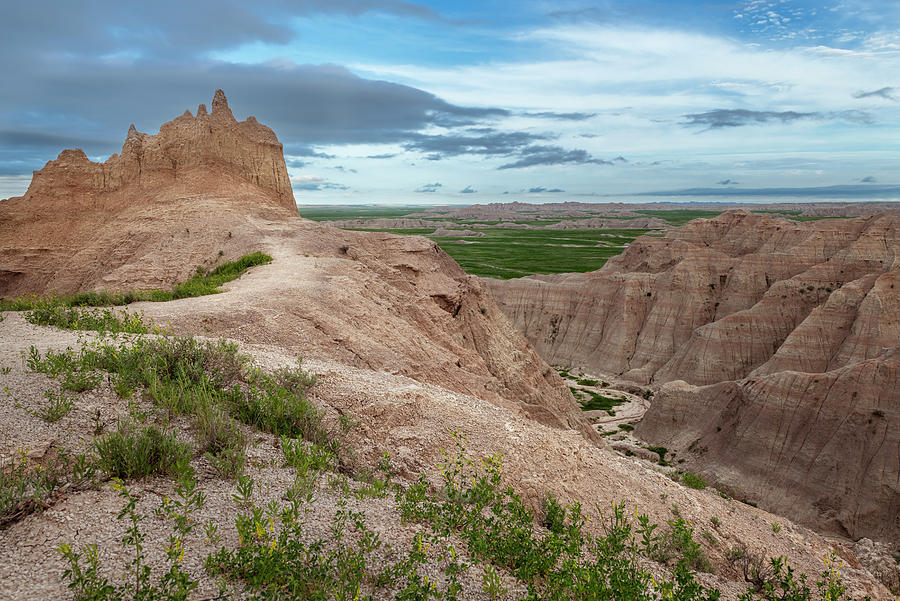 Badlands National Park Landscape by Joan Carroll