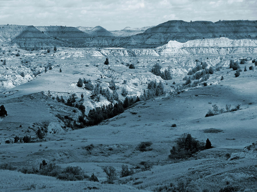 North Dakota Photograph - Badlands Shadows And Sunlight by Cris Fulton