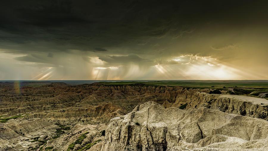 Badlands Storm by George Buxbaum