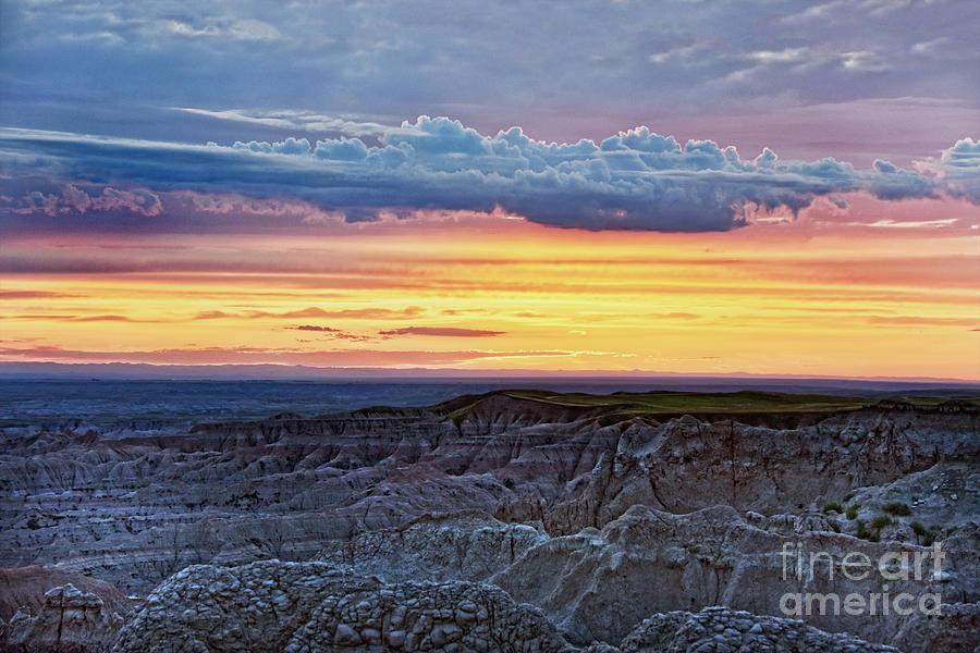 Badlands Sunset, South Dakota Photograph
