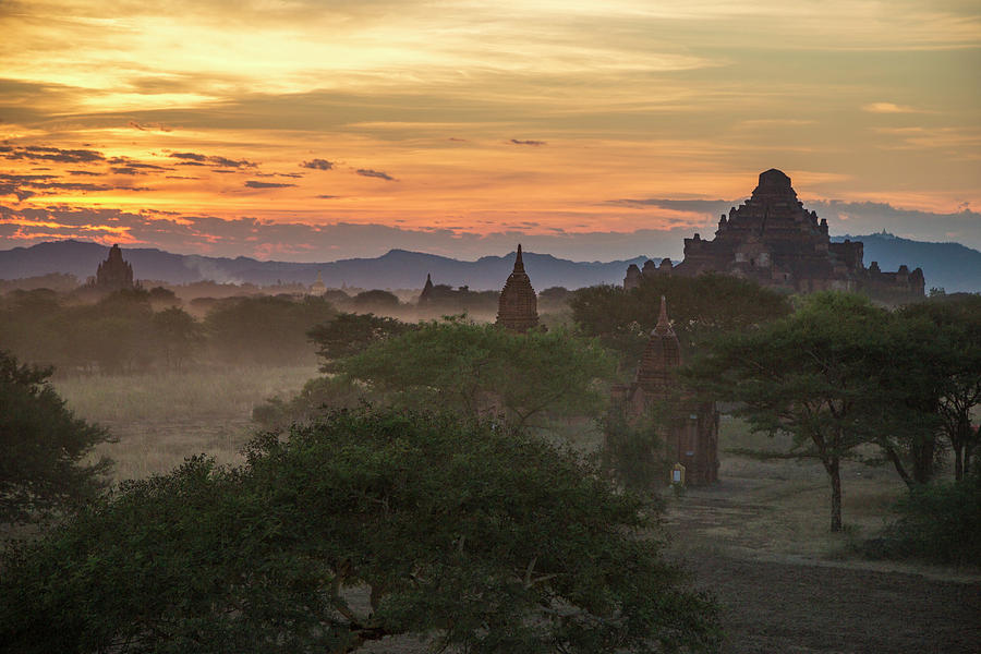 Bagan Sunset by Lindley Johnson