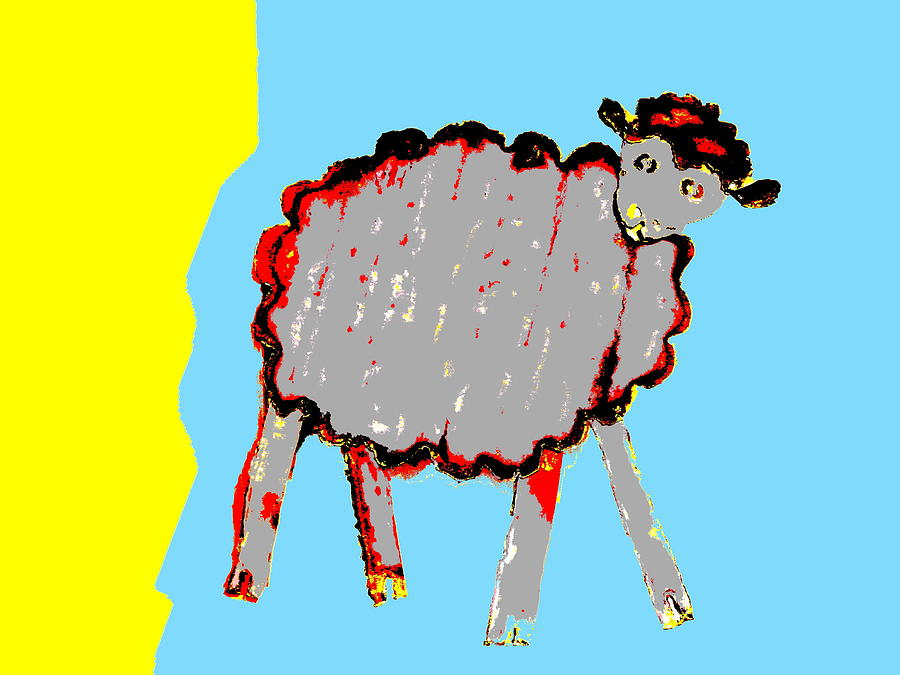 Bah Bah Aussie Sheep - Grey by Lexa Harpell