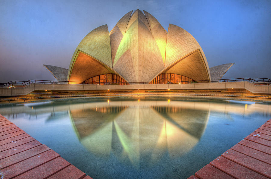 Bahai Temple Photograph by Sudiproyphotography