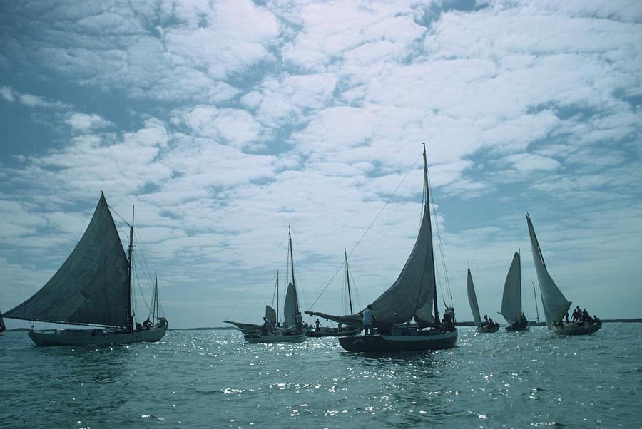 Bahamas Sailing Photograph by Slim Aarons
