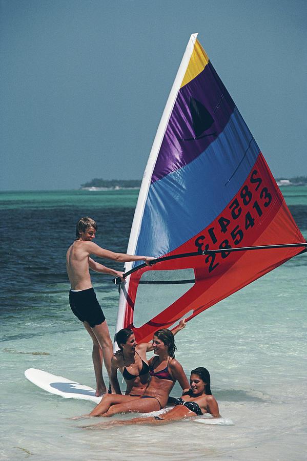 Bahamas Windsurfing Photograph by Slim Aarons