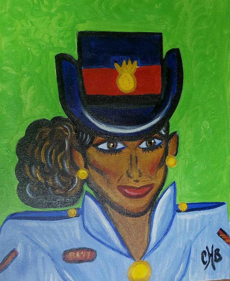 Bahamian Police Woman Painting