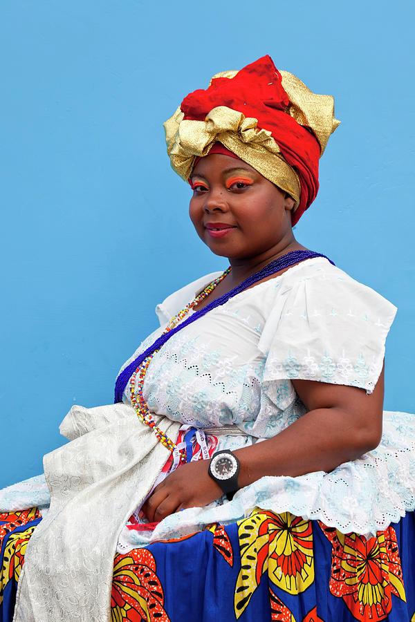 Bahian Woman Traditional Dress Photograph by Peter Adams