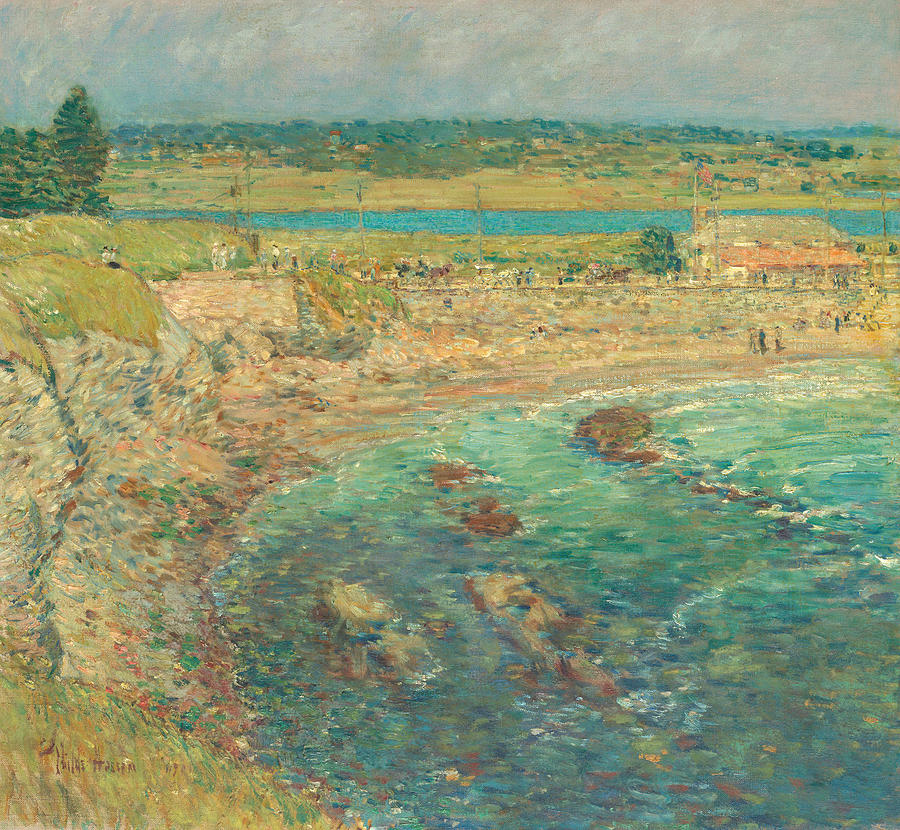 Childe Hassam Painting - Baileys Beach, Newport, R.i. by Childe Hassam