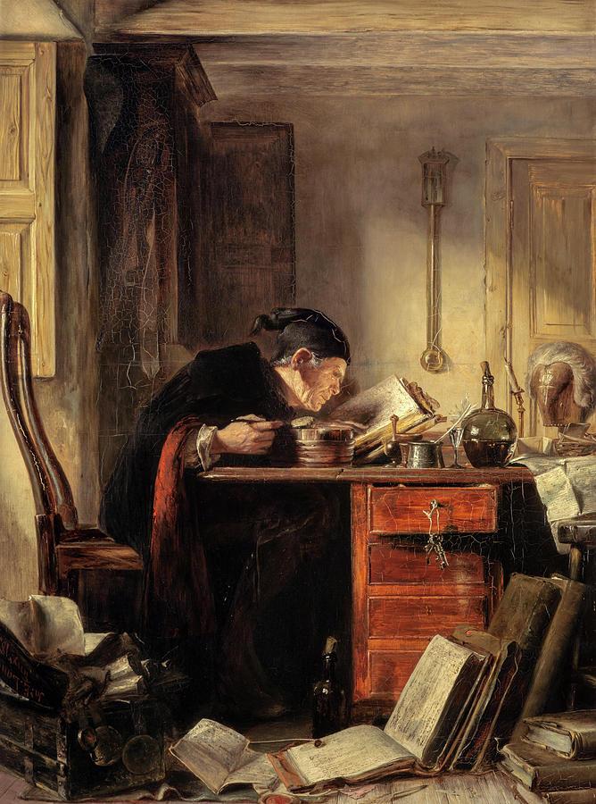 James Eckford Lauder Painting - Bailie Duncan Mcwheeble At Breakfast by James Eckford Lauder